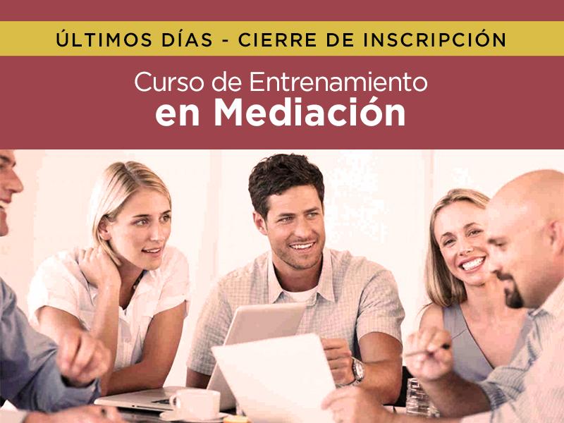 Curso de Entrenamiento en Mediación