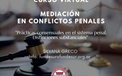 CURSO DE MEDIACIÓN EN CONFLICTOS PENALES