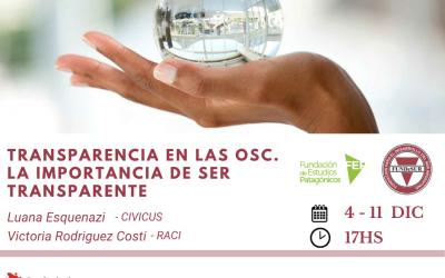 Transparencia en las OSC. La importancia de ser transparentes.